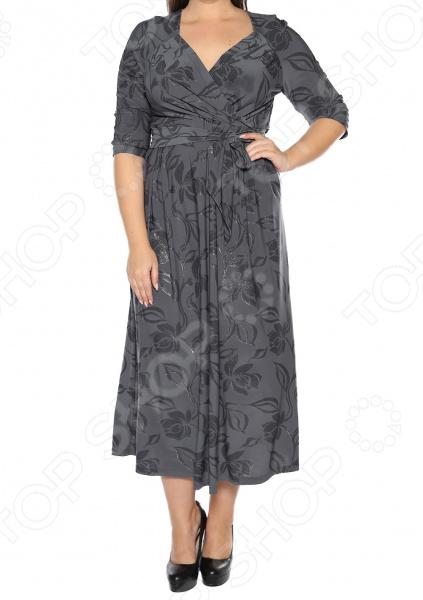Платье VEAS «Модный показ». Цвет: серый