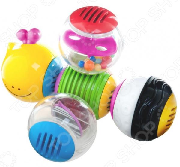 Игрушка-погремушка B kids «Веселая гусеничка» Игрушка-погремушка B kids «Веселая гусеничка» /