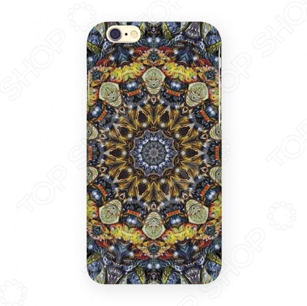 Чехол для IPhone 6 Mitya Veselkov «Сине-желтый калейдоскоп» стоимость