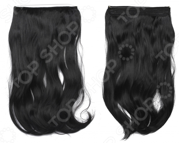 Волосы на силиконовой резинке    /Черный
