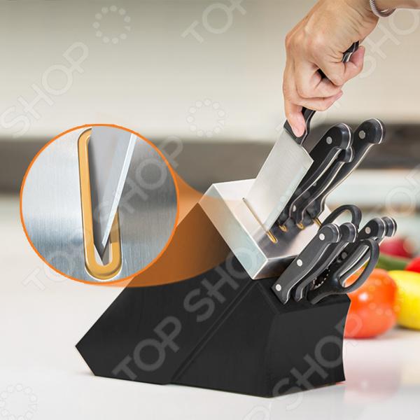 Набор ножей с подставкой и ножеточкой Delimano «Шеф повар»