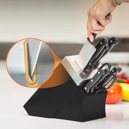 Купить Набор ножей с подставкой и ножеточкой Delimano «Шеф повар»