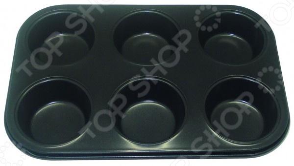 Форма для выпечки кексов металлическая Regent Easy 93-CS-EA-4-08 форма для выпекания металл tefal easy grip 42 3х28 5см j1627114