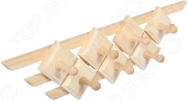 Вешалка для бани Банные штучки «Трапеция. 7 крючков»
