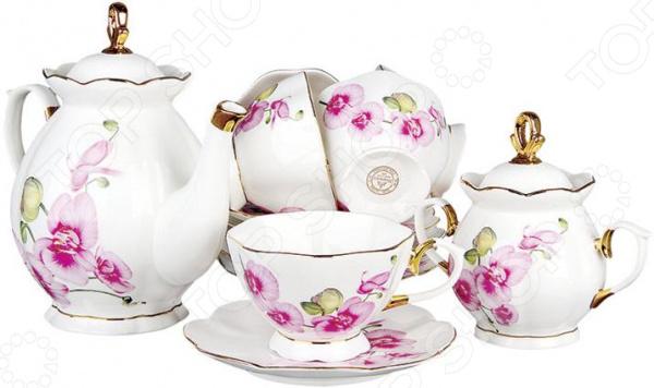 Чайный сервиз Коралл «Орхидея» V14 завеса тепловая ballu bhc d20 w35 bs