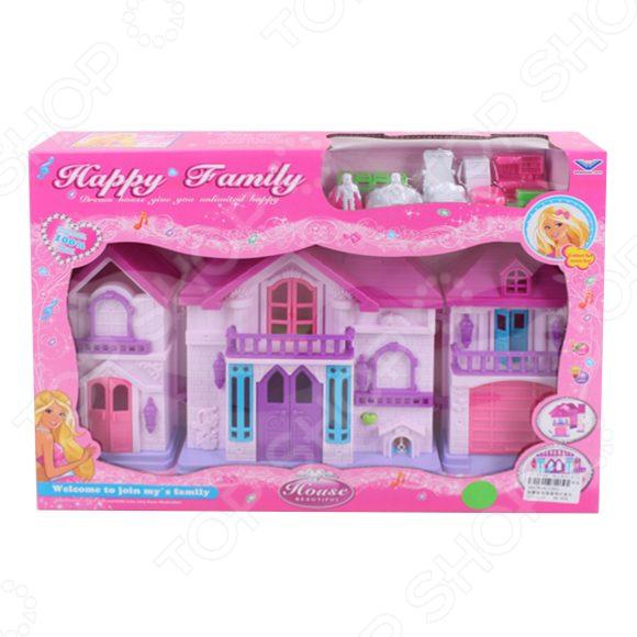 Кукольный дом с аксессуарами Наша Игрушка «Счастливая семья» а давыдова счастливая семья глазами мужчины и женщины