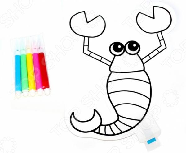 Раскраска надувная Bradex «Скорпион» раскраски bradex раскраска надувная скорпион