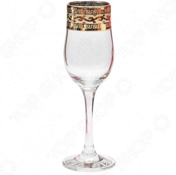Набор бокалов для шампанского Гусь Хрустальный «Версаче» набор бокалов для бренди гусь хрустальный версаче 400 мл 6 шт