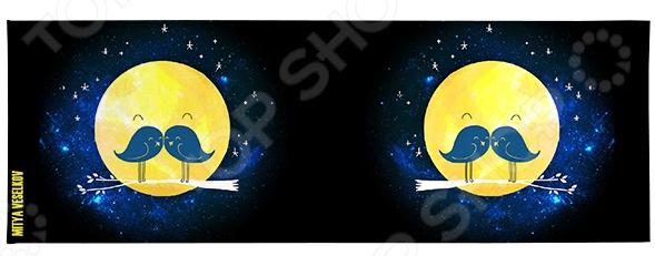 Обложка для студенческого билета Mitya Veselkov «Усатая Луна» обложка для студенческого билета mitya veselkov ежик ночью
