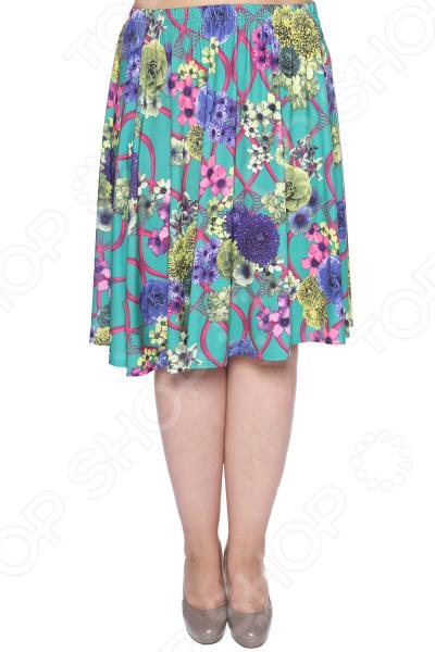 Юбка Pretty Woman «Пламенное солнце». Цвет: зеленый, бежевый юбка pretty woman загодочный блеск цвет зеленый