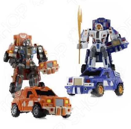 Игрушка-трансформер со световыми эффектами Наша Игрушка «Робот-машина» M7408-1. В ассортименте игрушка робот 31 век angelic monster в ассортименте