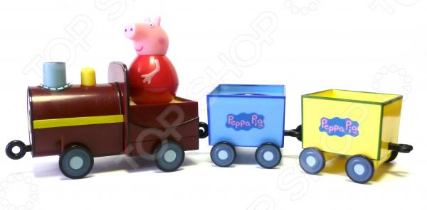 Игровой набор с фигуркой Peppa Pig «Поезд Пеппы-неваляшки»