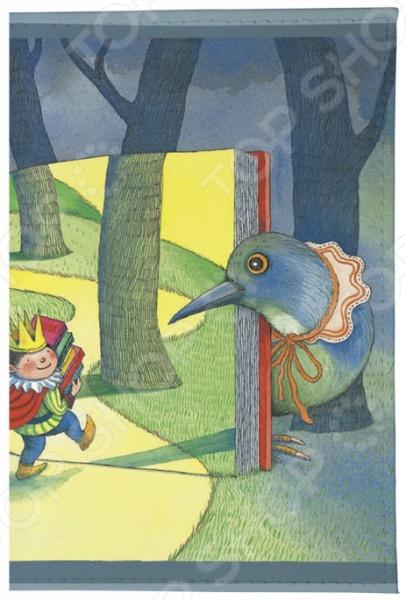 Обложка для паспорта кожаная Mitya Veselkov «Дорога в сказочный лес»