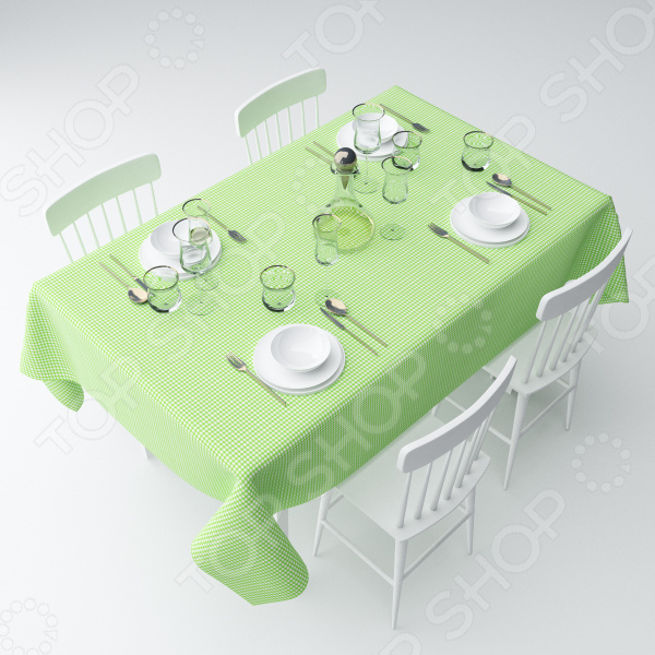 Скатерть Сирень «Зеленая клетка»