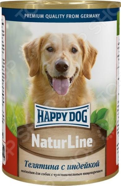 Корм консервированный для собак Happy Dog NaturLine с телятиной и индейкой
