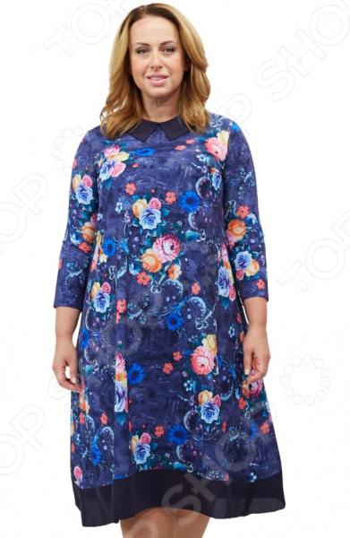 Платье СВМ-ПРИНТ «Малья». Цвет: синий