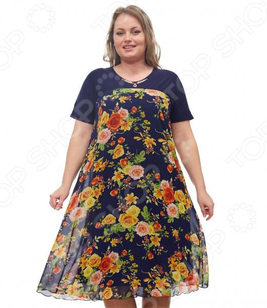 Платье Blagof «Никея». Цвет: синий