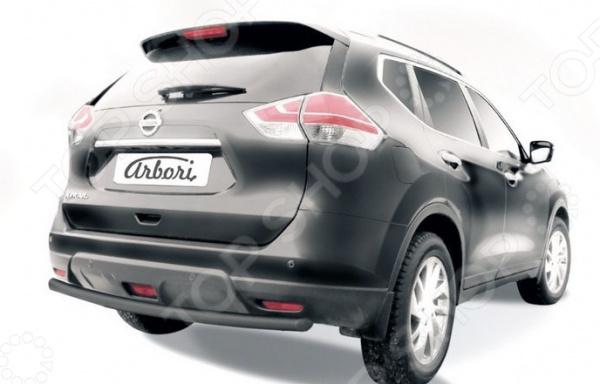 Защита заднего бампера Arbori Nissan X-Trail, 2015 qty 2 stabilus sg366006 oem заднего ствола подъемника поддерживает struts потрясений спрингс