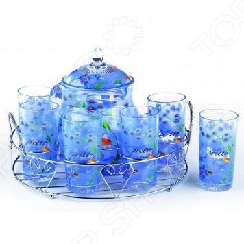 Набор: кувшин и 6 стаканов Bekker BK-5804. В ассортименте