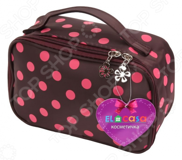 Косметичка EL Casa с розовым горошком. Размер: 20х8х14 см el casa косметичка сумочка розовая с узором