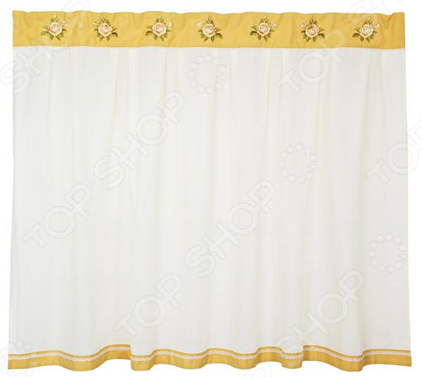 Штора кухонная «Корейская роза» 850-812-14 полотенце для кухни арти м корейская роза
