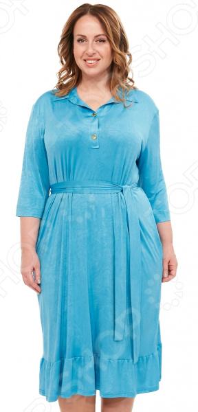 купить Платье Laura Amatti «Бархатная леди». Цвет: бирюзовый по цене 3699 рублей
