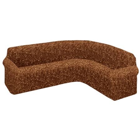 Купить Натяжной чехол на классический угловой диван Еврочехол «Виста. Инка»