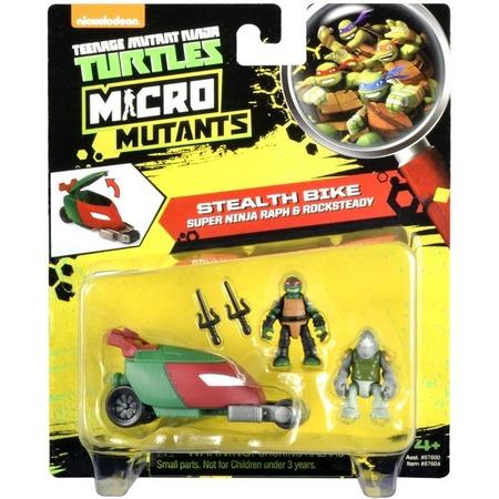 Купить Игровой набор Nickelodeon Stealth Bike. Super Ninja Raph&Rocksteady
