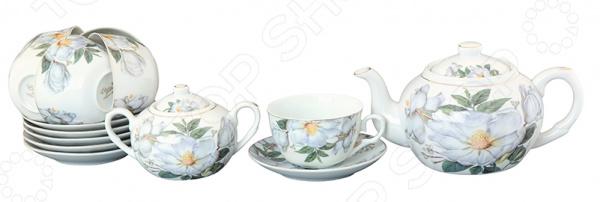 Чайный набор Elan Gallery «Белый шиповник»