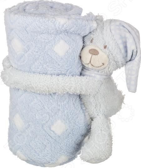 Плед детский с игрушкой Santalino «Голубой мишка» 851-004 мишка тед из фильма третий лишний