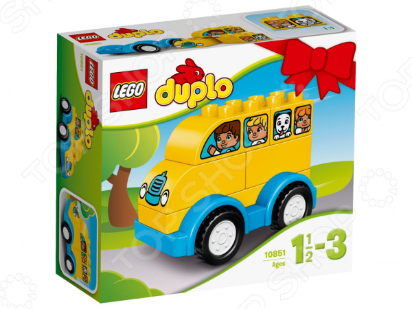 Конструктор для малышей LEGO Duplo «Мой первый автобус» lego duplo конструктор мой первый автобус 10603