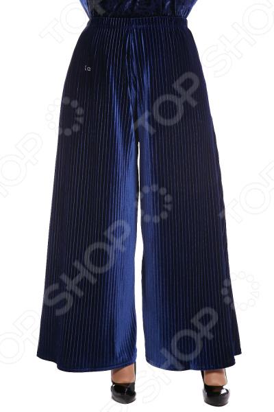 Юбка-брюки Pretty Woman «Бархатный выход». Цвет: синий брюки pretty woman восточная сказка цвет синий
