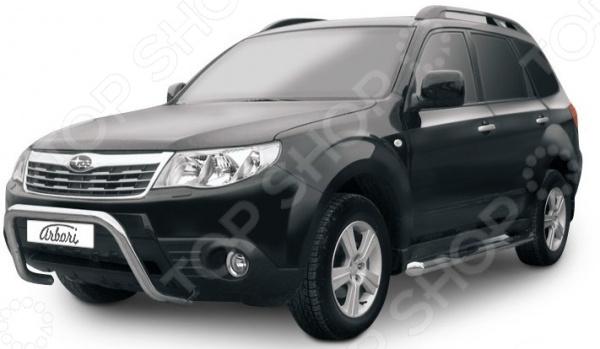 Защита переднего бампера Arbori низкая «рама» для Subaru Forester, 2008-2012 лампа для чтения iculed 5pcs 2008 2012