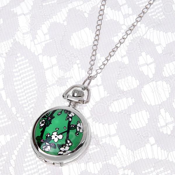 Кулон-часы Mitya Veselkov «Сакура на зеленом»