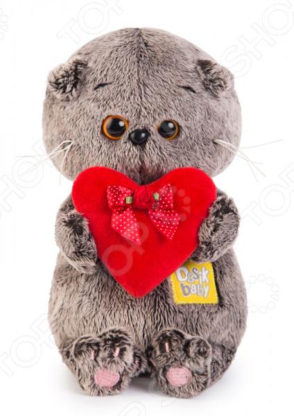 Мягкая игрушка BUDI BASA BABY «Басик с красным сердечком»