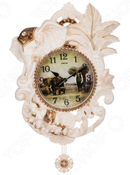 Часы настенные Lefard «Белый слон с маятником» 204-105 белый слон белый слон пижама бело розовая