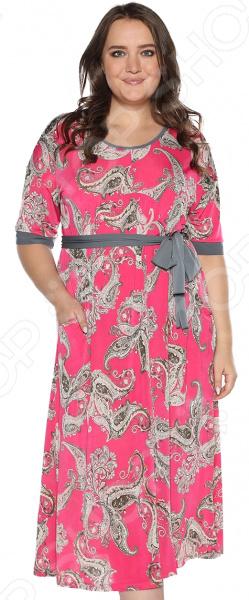 Платье Лауме-стиль «Секреты счастья». Цвет: малиновый