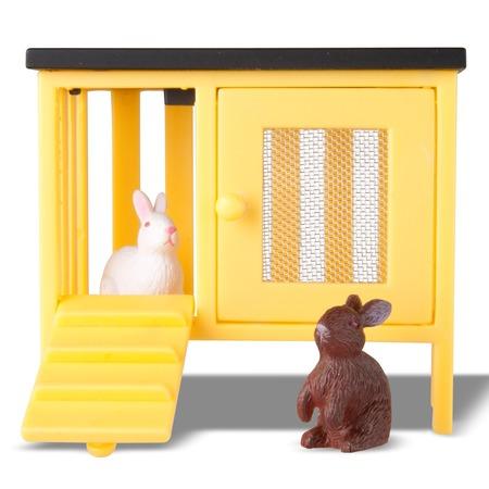 Купить Игрушечные животные для кукольного домика Lundby «Кролики и домик»