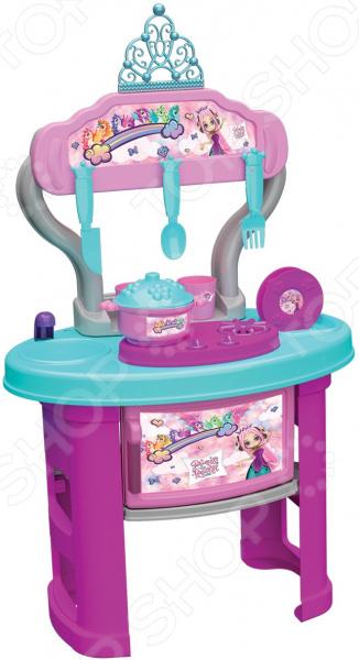 Кухня игровая «Принцесса и Единорог». Количество предметов: 19 шт