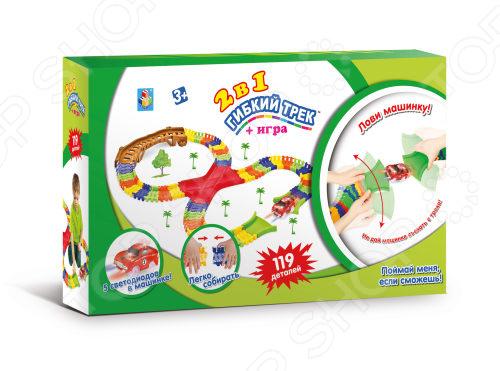 Конструктор игровой 1 Toy «Гибкий трек. Большое путешествие» Т13209 гибкий трек большое путешествие 107 деталей т59313