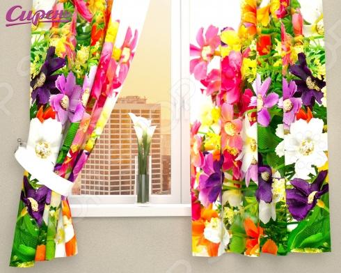 Фотошторы Сирень «Весенние полевые цветы» шторы для комнаты drdeco шторы цветы дизайн 21