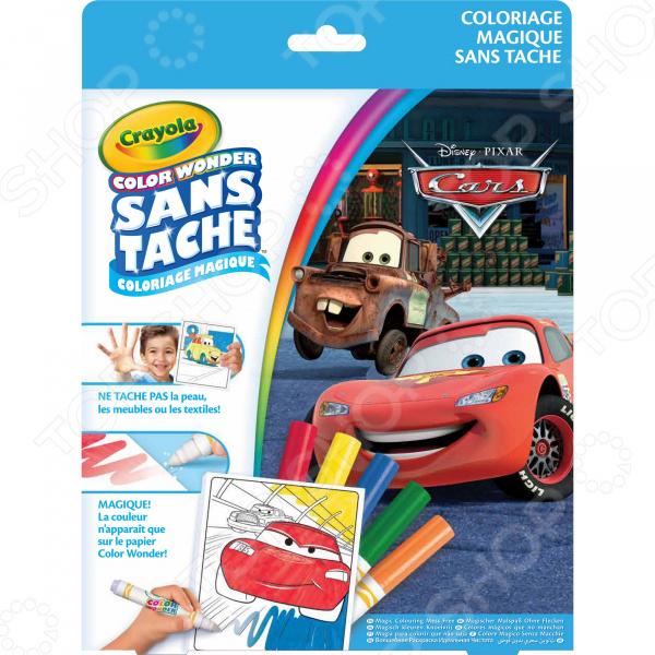 Раскраска с фломастерами Crayola Color Wonder Disney Pixar Cars раскраска crayola color wonder тачки 12787