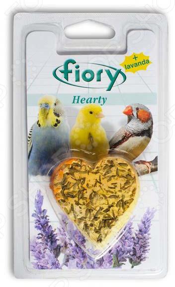 Камень минеральный для птиц Fiory с лавандой в форме сердца Hearty камень минеральный для птиц зоомир с йодом