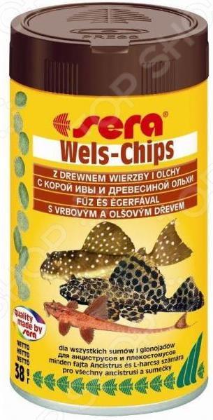 Корм для лорикариевых сомов Sera Wels-Chips