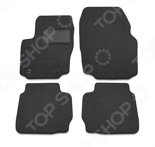 Комплект ковриков в салон автомобиля Novline-Autofamily Toyota Avensis 2003-2009 седан. Цвет: черный