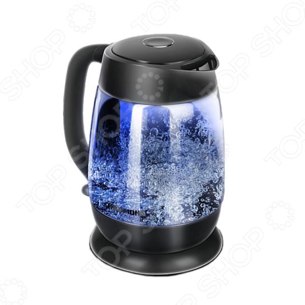 Чайник Redmond RK-G154 чайник redmond rk g154 2200 вт чёрный 1 7 л стекло