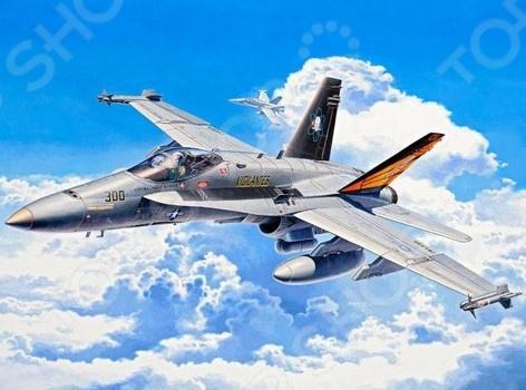 Сборная модель истребителя-бомбардировщика Revell F/A-18C Hornet сборная модель истребителя revell f 15e eagle