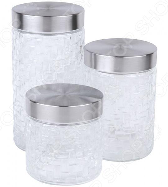 Набор банок для сыпучих продуктов Rosenberg RGL-220012-3