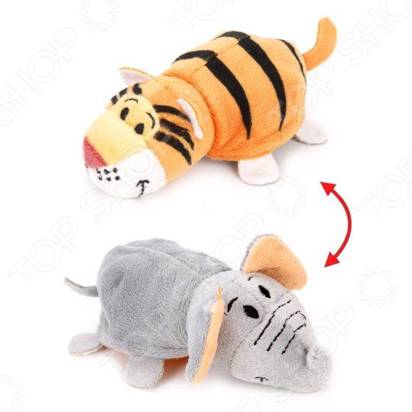 Мягкая игрушка 1 Toy «Вывернушка 2в1: Слон-Тигр» плюшевая игрушка вывернушка слон тигр 35см