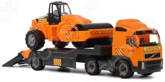 Машина игрушечная с аксессуарами Полесье Volvo «Дорожный каток» машина игрушечная с аксессуарами полесье майк
